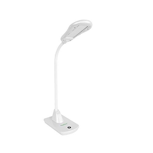 Noeloy® Lámpara de escritorio 5W,Flexo ideal para el uso de la oficina,hogar,estudio,lectura,etc.Diseño moderno,Color blanco