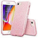ESR Funda para iPhone 8 / iPhone 7, [Protección a Bordes y Cámara][Compatible con Carga Inalámbrica] Blindada Brillante Suave TPU + Plástico para iPhone 7/ iPhone 8 -Oro Rosa