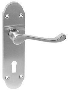 Epsom Door Lever - Lockset - Various Finishes - 170mm x 40mm - from e-Hardware - inexpensive UK door handle store.