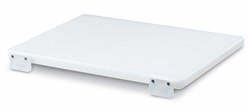 Ausonia - Tagliere polietilene da macellaio bianco 40x30x2