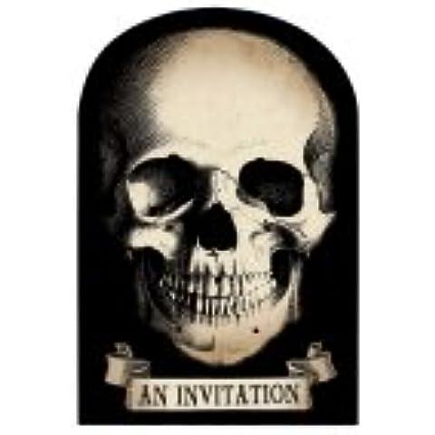 Amscan–Boneyard carta per feste inviti con Save The Date stickets X 20