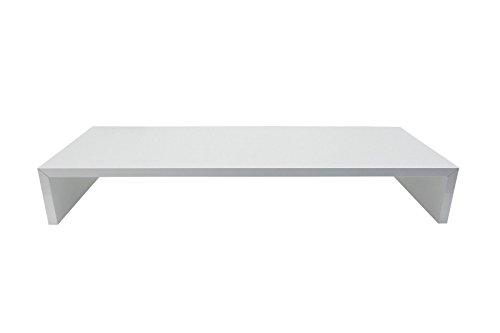 Monitortisch SAUERLAND (TFTHW75) B/T/H 75 x 30 x 12 cm weiß glänzend Bildschirm Ständer Standfuß Monitorständer Schreibtischaufsatz Bildschirmerhöhung Stauraum für Tastatur und Maus Druckerständer