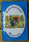 Blechschild Freistaat Bayern Wappen Löwe Schild Werbung