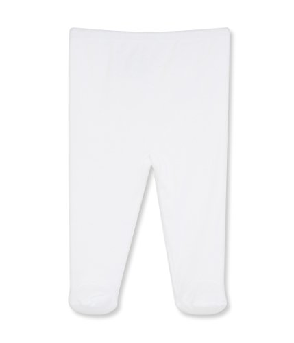 Petit Bateau Unisex Baby Jogginghose PANTPIEDS, Einfarbig, Gr. 56 (Herstellergröße: 1m/54cm), Weiß (ECUME 01) (Petite Weiße Hose)