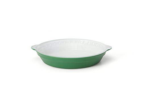 Creo SmartGlass Cookware, 9-inch Pie Pan, Bali Green Green Pie Dish