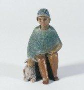Gelenberg-Krippe Hirte, sitzend, mit Schaf - Grösse/Maßstab: 18 - Schaf Kostüm Für Krippe