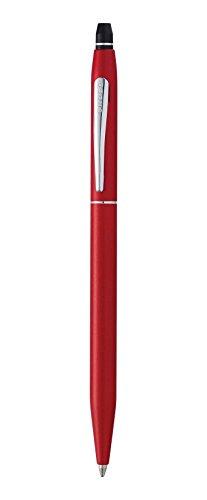 croce-clic-penna-a-sfera-cromata-metallic-red