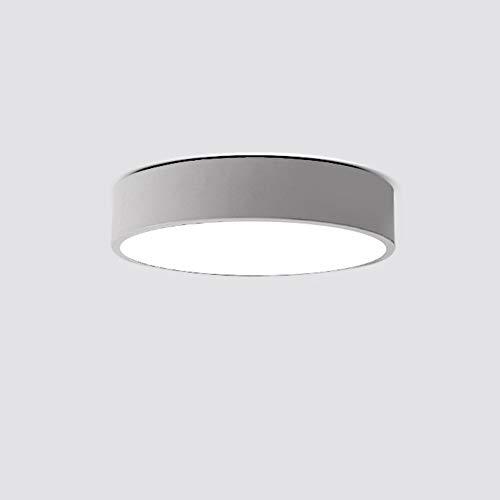 Moderner Runder Schrank (UOUM Lampen Kronleuchter Decken Moderner Stil Runde Led Lichter Geeignet Für Restaurants Schlafzimmer Cafe Weißes Licht,White,12w 25cm)