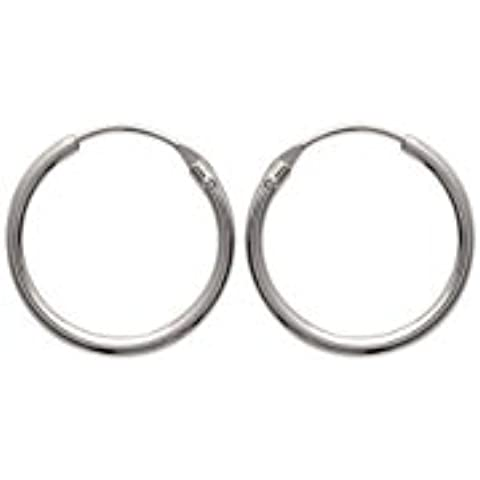Bijoux pour tous-Orecchini a cerchio, in argento 925, 1 mm, unisex, diametro a scelta