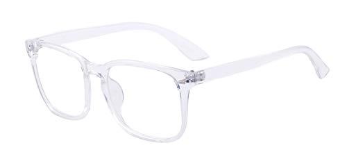 Outray Blaues Licht blockieren Brille Platz Nerd Brillengestell Anti Blue Ray Computerspiel Brille Weiß
