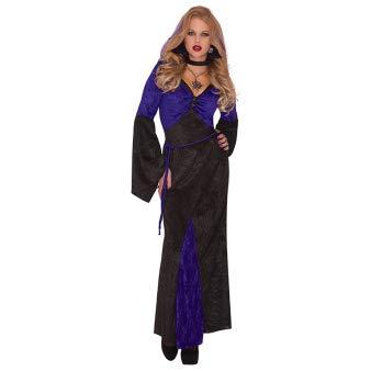 Emmas Garderobe Sexy Vampir-Kostüm für Damen - Kleid wie Morticia Addams Dieses Halloween - UK Größe 8-16 (Women: 36-38, Vampiress)