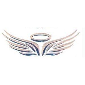 Preisvergleich Produktbild Aufkleber Auto - SODIAL(R) 3D Chrom Engels-Fluegel Aufkleber Abziehbild Auto Wagen Emblem Abziehbild Dekoration Farbe Silber
