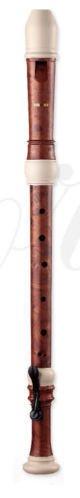 Ferris FR600T Optik Holzmaserung & elfenbeinfarben mit Koffer Tenorblockflöte & Tabelle