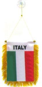 AZ FLAG Fanion Italie 15x10cm - Mini Drapeau Italien 10 x 15 cm spécial Voiture - Bannière
