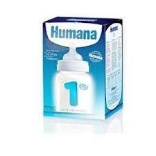 Humana 1 latte per neonati primi mesi, con prebiotici, lc-pufa, in polvere - 800 gr