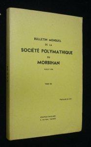 Bulletin mensuel de la société polymathique du Morbihan : juillet 1978, tome 105