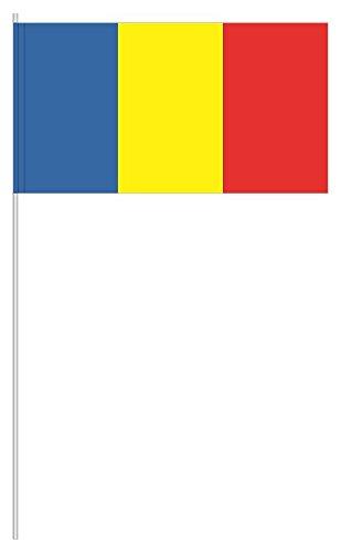 """Preisvergleich Produktbild 10 x Papierfähnchen """"Rumänien"""" - partydiscount24®"""