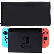 Wanty Premium Nylon Staub Guard Cover für Nintendo-Schalter Ladekabel LCD TV Dock mit Rückseite Kabel Port (für angedockter Konsole) Schwarz -