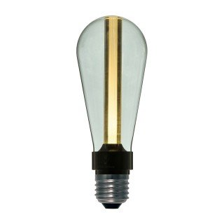 Amarcords. LED ST64 3D decorative light bulb with smoked glass and soft light. 220v 4w 2700k e27.