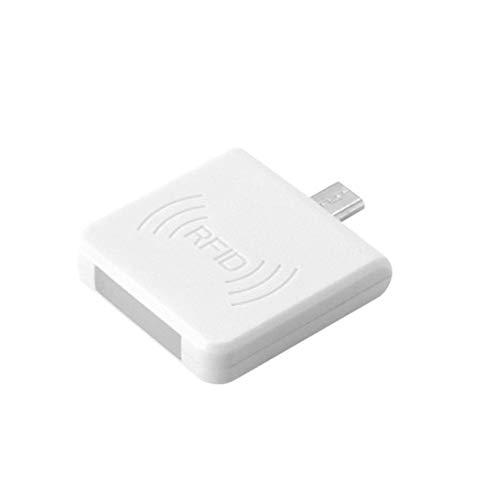 Dandeliondeme Tragbarer Mini-RFID-Leser Micro-USB-Schnittstelle NFC-IC-Karte Mini-RFID-Leser für Android-Handy White