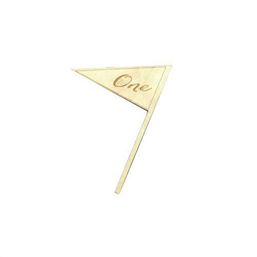 Bomcomi 10PCS Elegante eins bis zehn Romantische Holz Hochzeit Party Supplies-Platz-Halter Flaggen-Tabellen-Zahl-Zahl Karte Sitz Crafts