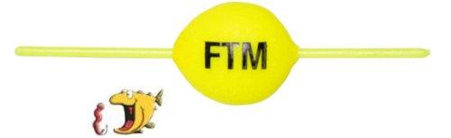 FTM Steckpiloten gelb - Pilotkugel zum Forellenangeln, Forellenpose, Forellenschwimmer, Pilotpose für Forellen, Schwimmkugel, Durchmesser:14mm