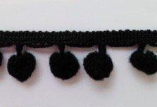 Colore: nero, 10 mm, finiture con pon-pon da Bertie's Bows on a, lunghezza 3 m