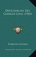 Deficiencias del Codigo Civil (1903)