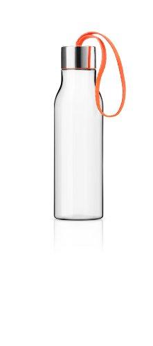 Eva Solo 502993 Trinkflasche, Mit Trageschlaufe, 0,5 L, Kunststoff, Orange, 28 x 10 x 10 cm