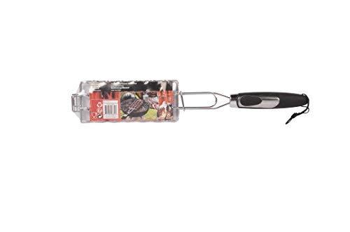 Invero BBQ Collection-Grill Tragbar Wurst Grillen Grill Korb Rack Halter Turner mit hitzebeständig Griff-Ideal für Kochen Alle Arten von Würstchen Hamburger Turner