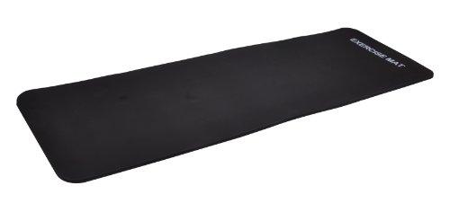 #Yogamatte Pilates Gymnastikmatte EXTRA-dick 190 x 60 x 1,5 cm schwarz#