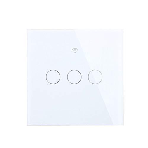 SESOO Smart Touch Switch Interruttore A Muro di Controllo WiFi Interruttori della Luce A LED con Pannello in Vetro Temperato