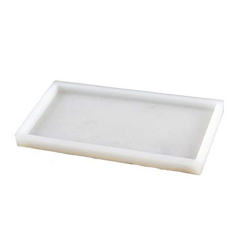 Plaque de béton Moule en silicone rectangulaire faite à la main Moule Bac à ciment