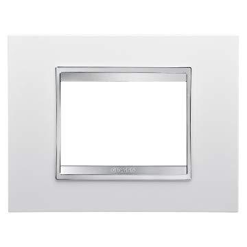 Gewiss GW16203TB Placca Lux in tecnopolimero 3 Posti Bianco...