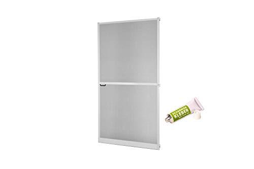 Insektenschutz Fliegengitter Tür Alurahmen Master SLIM PLUS mit Scharnierkleber weiß, braun oder anthrazit 100 x 210 cm