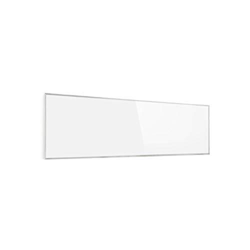 Klarstein Wonderwall 30 Infrarot-Heizung - Wandheizung, 30 x 100 cm Heizpanel, 300 Watt, Carbon Crystal Technik, Wochentimer, Auto-Abschaltfunktion, Allergiker-geeignet, IP24, wei
