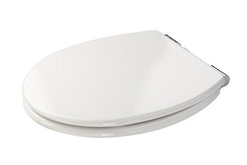 Croydex Dawson Toilettensitz, weicher Verschluss, Weiß