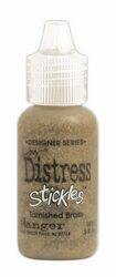 Signature Series Distress Stickles Glitter Glue .5 Ounce-Tarnished Brass - Metallic
