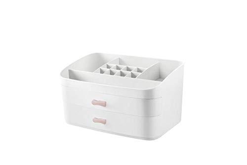 Kosmetische Aufbewahrungsbox Kosmetische Aufbewahrungsbox-Schubladenart einfacher Desktop-Speicher - weiß -
