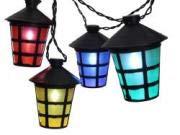 LED Partylichterkette Laterne mit 20 LEDs für Innen und Außen