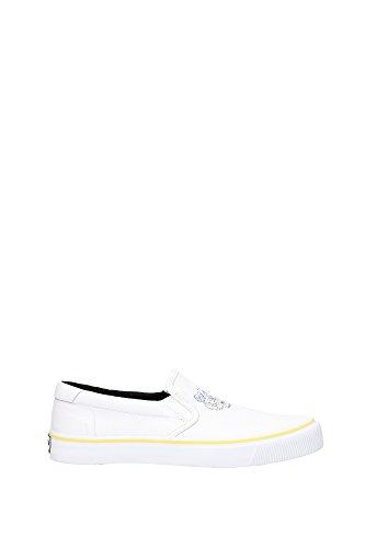 Pantofole Kenzo Uomo Tessuto Bianco, Giallo e Blu M55819E16 Bianco 40EU