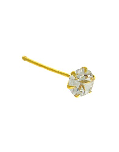 Anuradha Art Golden Tone Styled With Single Stone Designer Studded Stone Wonderful Nose Pin For Women/Girls
