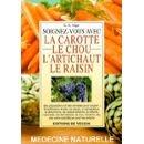 Soignez-vous avec la carotte, le chou, l'artichaut, le raisin