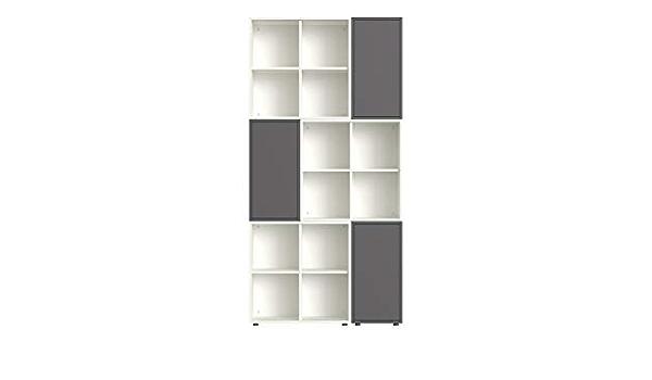 Cubo da parete 1 vano a giorno 3x Set 4 piedini 2x Cubo da parete 1 vano a giorno Set da ingresso composto da: 2x Cubo da parete 2 cassetti Bianco Bianco//Rovere Rovere Iconico Home QBE