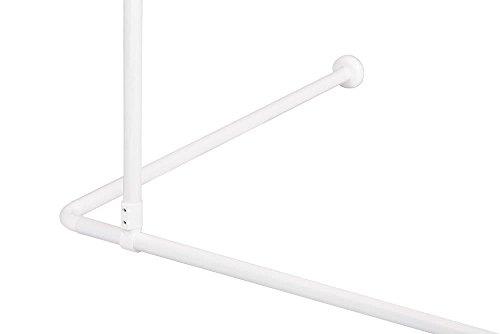 Deckenstütze für Duschvorhangstange, 55 cm, Beliebig kürzbar, Aluminium