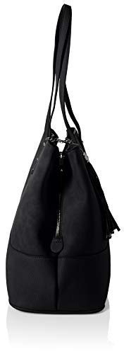 f90d188875403 Dorothy Perkins Womens Tassel Panel Canvas and Beach Tote Bag Black ...