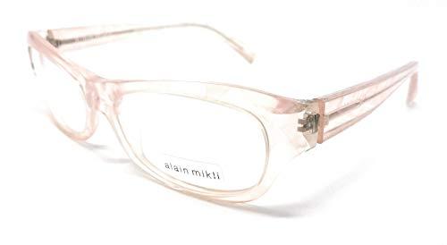 Alain mikli occhiali da vista donna 1010 rosa trasparente 0004