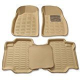 #9: Goodway premium quality 3d mat car foot mat car floor mat (Beige) for Maruti Suzuki Swift Dzire New