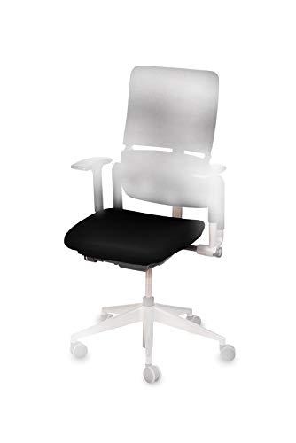 """TexDeko Bezug für Bürostuhl - Husse für Bürodrehstuhl & Schreibtischstuhl, Chefsessel, Bürosessel \""""one Size fits All\"""" (schwarz)"""