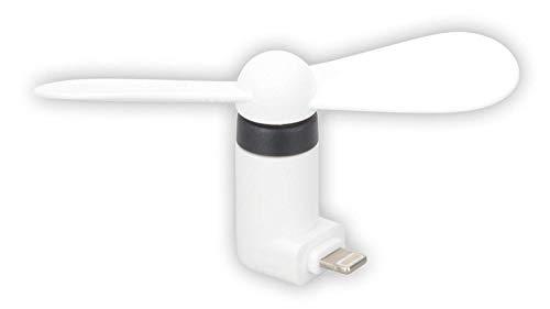 HR GRIP kleiner, leiser Ventilator für iPhones & iPads (Lighting Anschluss) - weiß [2 Jahre Garantie | Kompakt & effektiv] - 11011011